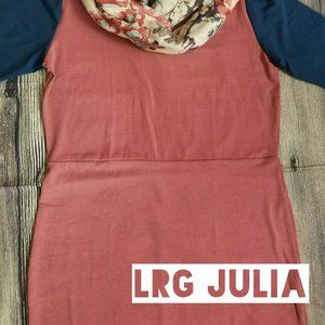 LuLaRoe Julia Dress (L)